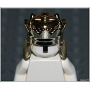 Lego Castle x1 Chrome Gold Crown King Prince Knight Armor Minifigure New