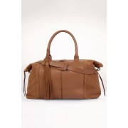Womens Next Leather Holdall Bag - Tan