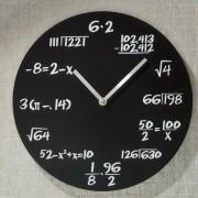 Ceas de perete Matematica-negru