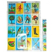 Don Clemente Mexican Jumbo Loteria Set Deck of Cards Fun and Educational 10 Large Boards
