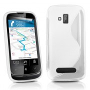 Nokia Lumia 610 Силиконов Калъф Бял + Протектор