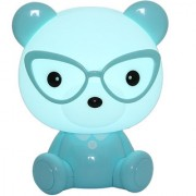 Zahab Blue Teddy Bear Cartoon Led Desk Lamp/Table Lamp/Night Light for Kids in Living Room Bedroom
