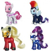 My Little Pony Power Ponies Fili-Second Pinkie Pie Zapp Rainbow Dash Mistress Mare-Velous Applejack & Radiance Rarity Figure Bundle