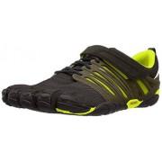 Vibram V-Train Cross-Trainer Zapato para hombre, Negro/Verde, 39 M EU