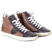 Philippe Model High Laced Sneakers Brown
