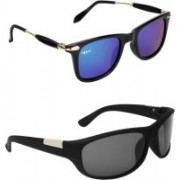 Rich Club Wayfarer, Sports Sunglasses(Blue, Black)