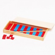 ?MONTE Kids? Montessori teaching tool - Mathessori mini 2 sets - Montessori educational toys teaching early childhood early education Monte Kids math toy real authentic material - arithmetic rod mini 2 sets