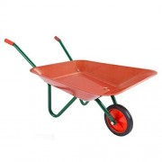HEY! PLAY! Kids Garden Tool-Mini Toy Wheelbarrow, Boys/Girls-for Pretend Play Yardwork, Hauling Sand, Water, Sticks and More, Red