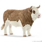 Schleich North America Fleckvieh Bull Toy Figure