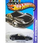 Hot Wheels 2013, Ferrari 458 Spider (BLACK), HW SHOWROOM, #151/250. 1:64 Scale.