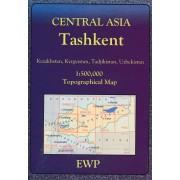 Wegenkaart - landkaart Tashkent   EWP