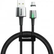 Cablu de date/incarcare Baseus, Zinc Magnetic, USB Type-C, 2M 2 A, Negru