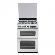 New World 600TSIDOm White Gas Cooker with Double Oven