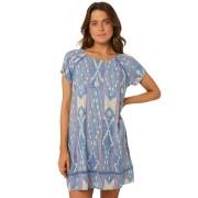 Rip Curl Island Love Dress Blue White