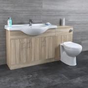 HudsonReed Meuble-lavabo & Toilette WC 106x78x48cm Classic Oak