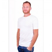 Alan Red T-Shirt Ottawa White ( two pack) ( stretch ) - Wit - Size: Large