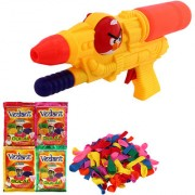 DealBindaas Holi Water Pichkari AG Squirter With Gulal Ballloons Assorted Color