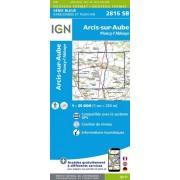 Wandelkaart - Topografische kaart 2816SB Arcis-sur-Aube, Plancy-l'Abbaye | IGN
