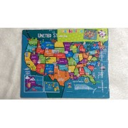 Puzzle Time Usa Map Frame Tray Puzzle 24 Pieces