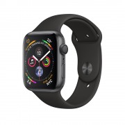 Умные часы Apple Watch Series 4 GPS 44mm Space Gray Aluminum Case with Black Sport Band MU6D2 (Серый космос/черный)