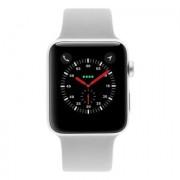 Apple Watch Series 3 - boîtier en aluminium argent 42mm - bracelet sport gris nuageux (GPS+Cellular)