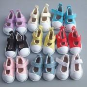 1 pair 5 cm Canvas Shoes For BJD Doll Fashion Mini Toy Shoes Bjd Doll Shoes for Russian Tilda Doll Accessories