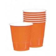 Set 10 pahare plastic orange, 552287.05