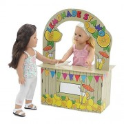18 Inch Doll Accessories | Incredible Doll Play Lemonade Stand with Brightly Colored Graphics | Fits American Girl Dolls