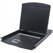 """Console KVM Switch 8 Porte USB/PS2 con LCD 19"""" da Rack 19"""""""