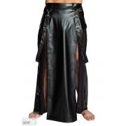 Noir Handmade Mixed Long Skirt Kilt Costumes Black H038