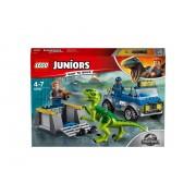 Конструктор LEGO Junior Jurassic World Грузовик спасателей для перевозки раптора