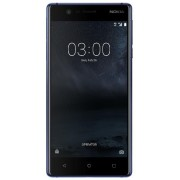"Telefon Mobil Nokia 3, Procesor Quad Core 1.3 GHz, IPS LCD 5.0"", 2GB RAM, 16GB Flash, 8MP, Wi-Fi, 4G, Dual Sim, Android (Albastru) + Cartela SIM Orange PrePay, 6 euro credit, 4 GB internet 4G, 2,000 minute nationale si internationale fix sau SMS nationale"
