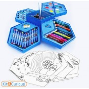 Colors Box with Color Pencil, Water Color, Crayons, Sketch Pens (Set of 46 Pieces) with 10 Coloring Sheets Best Return Gift, Birthday Gift Pack