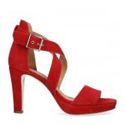 Manfield Rode sandalen met hoge hak