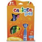 Carioca super lavabila 12 culori-cutie CARIOCA Baby Teddy 1+