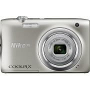 Nikon COOLPIX A100 - Zilver - Geleverd met 16GB SD-kaart + camerahoes