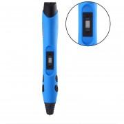 Lápiz Para Impresión En Baja Temperatura SL-300A 3D Con 5M 20 Colores PLA Material - Negro Y Azul