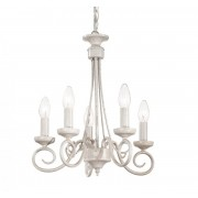 Candelabru Vintage Alb Brandy SP5 - Ideal Lux