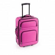 Merkloos Stoffen koffer handbagage roze 50 cm