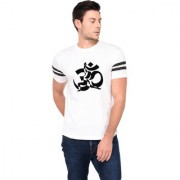 TRENDS TOWER Half Sleeve Round Neck Mens T-Shirt White Color Om Graphics Print