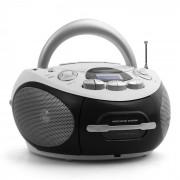 Majestic Audiola AHB-0388 Aparelhagem Portátil Boombox CD USB MP3 Cassete Rádio AM/FM Branco