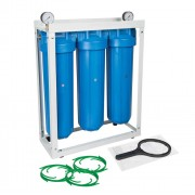 "Set 3 carcase BIG BLUE 20"", cadru metalic, manometre si cheie"