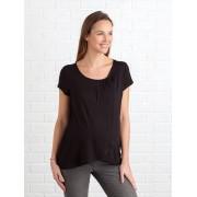 VERTBAUDET T-shirt com abas cruzadas, para amamentar preto escuro liso