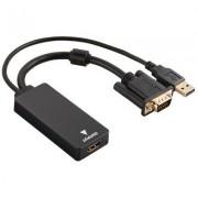 Hama Adapter HAMA VGA+USB - HDMI (wtyk - gniazdo) 54547