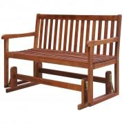 vidaXL Balansoar de grădină cu masă, 125 cm, lemn masiv acacia
