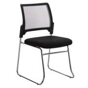Sediadaufficio Sedia per conferenze e riunioni CRANTON, sedile imbottito e schienale in rete, struttura in metallo, colore grigio/nero