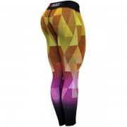 Six Deuce Nerfertari Fitness Leggings Yellow/purple