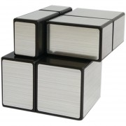 Cubo Magico Rompecabezas Shengshou Mirror 2x2x2-Negro + Plata