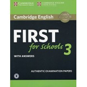 Cambridge English First for Schools 3 Student's Book with Answers with Audio, Hardcover/***