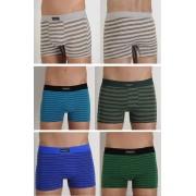 Kit com 7 Cuecas Boxer Masculina Adulto em Algodão Premium - BC465 ou BC1398